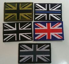 Union Jack Badge, TRF, Military, Army, Arm, Patch, Black, Green