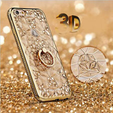 Shockproof Bling Diamond + Stand Holder Cover Case Bumper For iPhone 6 6S 7 Plus