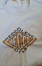 New Men's Silver White Vintage Hecco Heccoline Oils Tee T Shirt L Large XL 2XL