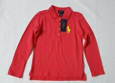 NWT POLO RALPH LAUREN GIRLS KIDS' POLO SHIRTS COLOR : SPICE BRRY SIZE: 5 & 6