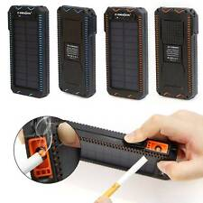 15000mAH Portable Solar Power Bank Dual USB Battery Charger For Mobile Phone MP3
