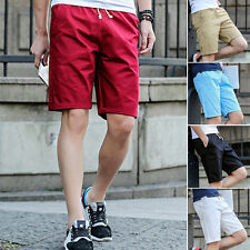2017Men's Casual Stylish Cotton Pants Baggy Shorts Pockets Cargo Pants Trousers