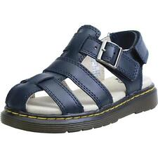 Dr Martens Moby Infant Navy Leather Flat Sandals