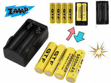 4X 18650 3.7V 9800mAh Rechargeable Li-ion Battery&Charger For Flashlight Lot UO