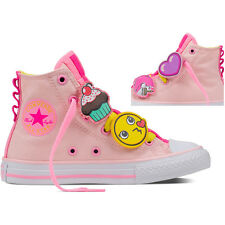 Converse Chuck Taylor All Star Loopholes Junior Vaper Pink Textile Trainers