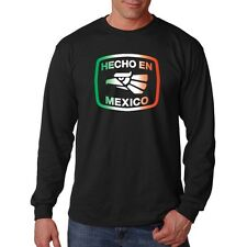 Hecho En Mexico Made In Mexico Eagle Mexican Pride Funny Long Sleeve T-Shirt