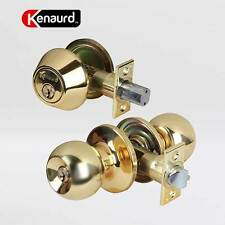 Set of-12 Combos - Entry Door Knob & Deadbolt Lock Set Keyed Alike SC1 & KW1