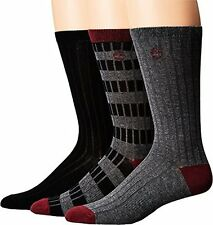 Timberland Mens Stripe/Solid 3-Pack Rib Crew Socks  Sock- Choose SZ/Color.