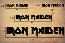 Iron Maiden logo Sticker Decal Rock Heavy Metal Music any color set of x4