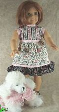 "Doll Clothes fit American Girl 18"" inch Sundress Dress Pink Gray 2pc Pet Dress"