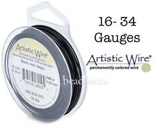 BLACK Artistic Wire TARNISH Resistant Craft Wire (Large Size)