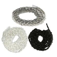 Beaded Lace Trim Mesh Fabric Pearl Chain Wedding Dress DIY Sewing Applique