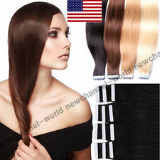 "Best AAAAA+ 16""-22"" Tape-In Hair Extension 100% Remy Human Hair Extensions B114"