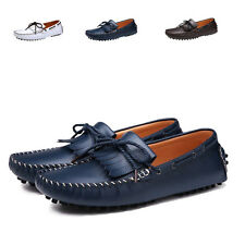 New Fashion England Men Driving Moccasin Slip-on Loafers Leather Casual Shoes