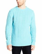 Nautica Mens Sportswear S44107 Rib Crew Sweater S- Choose SZ/Color.