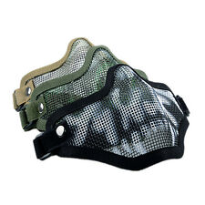 Strike Metal Mesh Protective Mask Half Face Tactical Airsoft Military Mask RS