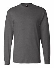 Hanes 5186 Adult Beefy-T Long-Sleeve T-Shirt-3-- Choose SZ/Color.