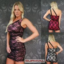 Womens One Shoulder Lace Dress Size 8-10 Party Club Wear Mini Casual Cocktail
