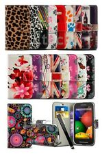 LG Tribute 5 / LS675 - Printed Pattern Design Book Wallet Case Cover & Pen