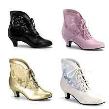 VICTORIAN FUNTASMA Women Ankle boots Leather look with lace Size 36-43 (ESH
