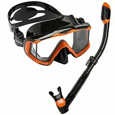 Cressi Panoramic Wide View Mask W/ Dry Snorkel Set- Choose SZ/Color.
