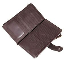 Luxury Leather Wallet Men S Card Holder Purse Genuine Bifold Long Slim Cluth Hot