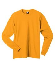 Hanes 5186 Adult Beefy T Long Sleeve T-Shirt SZ X, Gold Yellow