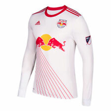 adidas New York Red Bulls White 2017 Primary Authentic Long Sleeve Jersey - MLS