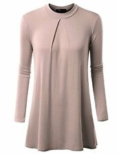 Womens Tunic Top CWTTL0123 4 Doublju Flare Pleated Dress (Plus SZ