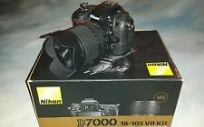 Nikon D7000 16.2 MP Digital SLR Camera - Black (Kit w/ 18-55mm and 55-200mm Len…