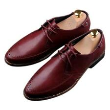 Men's Wing tip Pointed toe Strappy Wedding Business Dress Shoes Size Cuban heels