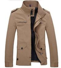 New Mens casual fashion Slim Fit Stand Collar warm jacket coat Outwear Plus Size