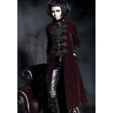 Punk Rave Royal Red Trench Coat [Special Order] - Gothic,Goth,Red,Jacket,Coat