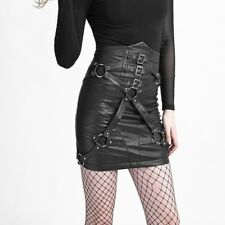 Punk Rave Tyrannise Leather Bondage Skirt [Special Order] - Gothic,Goth,Black
