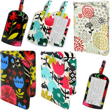 GISELA GRAHAM FLORAL LUGGAGE TAG / Flower Holiday Bag Case Travel Suitcase Label