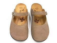 Orthaheel Aida Tan Leather Clogs w/ Arch Support  ***