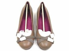 Orthaheel Milan Grey Leather/Suede Casual Flat w/ Arch Support size 7.5***