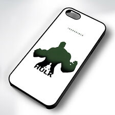 INCREDIBLE HULK BLACK PHONE CASE COVER FITS IPHONE 4 5 6 7 (#BH)