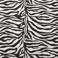 """Printed Poly Cotton Zebra Print fabric material 115cm 45"""" wide sold by metre"""