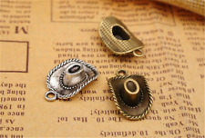 8/30pcs antique silver western cowboy Hat Jewelry Finding Charms Pendant 22x13mm