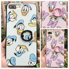 New Donald Duck Series TPU Case For iPhone Cute Couple Cover with Stent Ring
