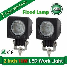 2x 10W CREE LED WORK LIGHT Bar Flood 1000LM offroad 4X4 tractor boat ATV UTE