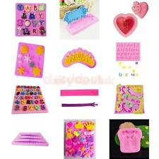 Silicone Cake Fondant Mould Pastry Chocolate Icing Mold Soap Mold 12 Types