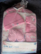 BABY 9 PIECE SET -PINK-BLUE-CREAM-THE IDEAL GIFT  - Blanket Booties Hat Mittons