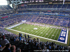 2 San Francisco 49ers vs Indianapolis Colts 10/8 Tickets 3rd Row Aisle Lucas Oil