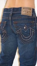 $348.00 TRUE RELIGION JEANS MENS RICKY SUPER T darkblue Engineered sz. 36