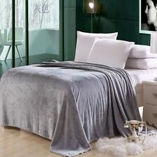 New Super Soft Flannel Blanket Single Queen King Bed Comfortable Throw Blanket