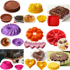 Large Silicone Cake Mold Pan Muffin Chocolate Pizza Pastry Bakeware Tray Mould