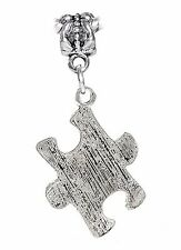 Autism Awareness Jigsaw Puzzle Piece Dangle Charm fits European Bead Bracelets