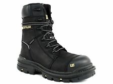 """Caterpillar MORTISE 8"""" WP CT Water Proof Comp Toe Mens Work Black Leather Boots"""